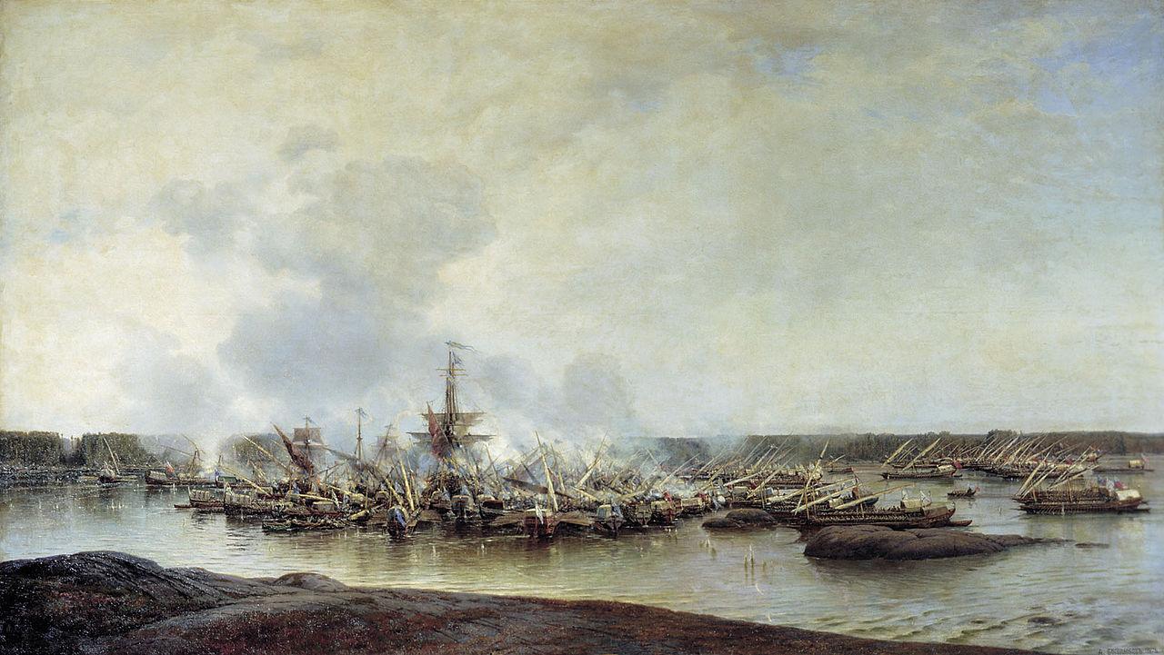 Алексей Боголюбов, Сражение при Гангуте 27 июля 1714 года