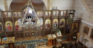 Иконостас храма Сергия Радонежского в Палдиски