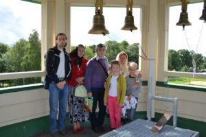 На колокольне храма