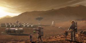 Колония землян на Марсе