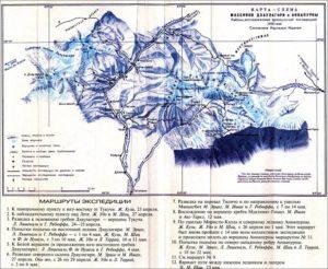 Карта-схема района работы экспедиции
